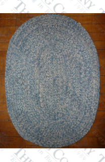 Calico Light Blue Tweed (2'x3' oval)