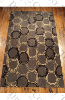 Concentric Circles Grey (5'x8')