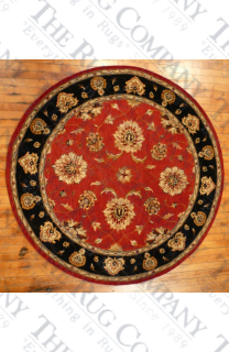 "Jewel Red/Black (5'3"" round)"