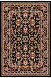 """Polypropylene Kashan Black (5'3""""x7'7"""")"""