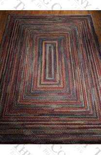 Wool Chenile Blue Mix Concentric (7'x9')
