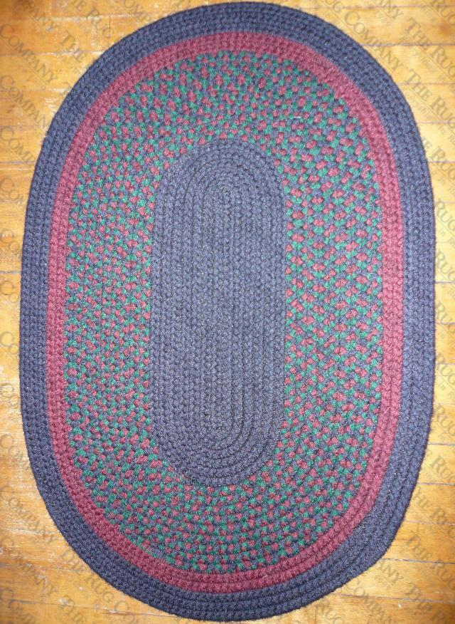Calico Navy Check (2'x3' oval)
