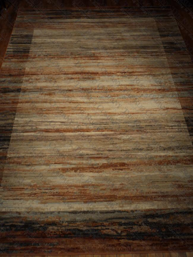"Rust Grey Abrash (7'10""x10'10"")"