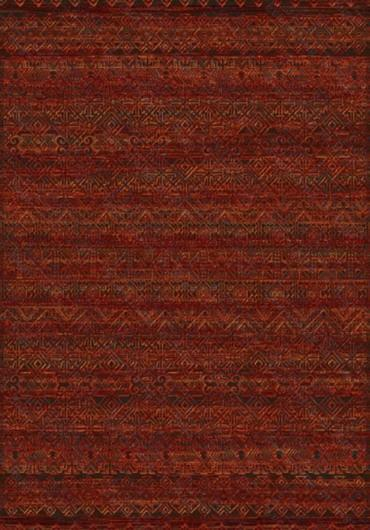 "Tribal Multi Red (5'3""x7'7"")"