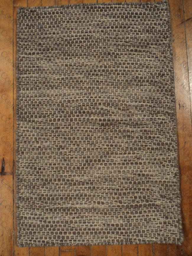 Wool Raggie Taupe (2'x3')
