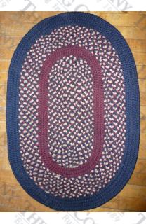 Calico Navy Blue (2'x3' oval)